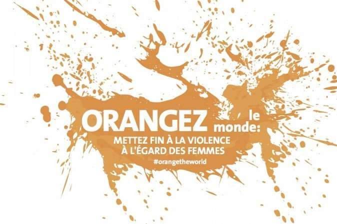 """Affiche de l'opération Orangez le monde"""" de l'ONU"""