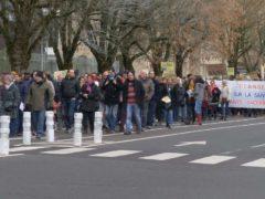 Plus de 700 personnes ont défilé à Thionville pour s'opposer au projet de l'usine Knauf à Illange (photo Stop Knauf Illange)