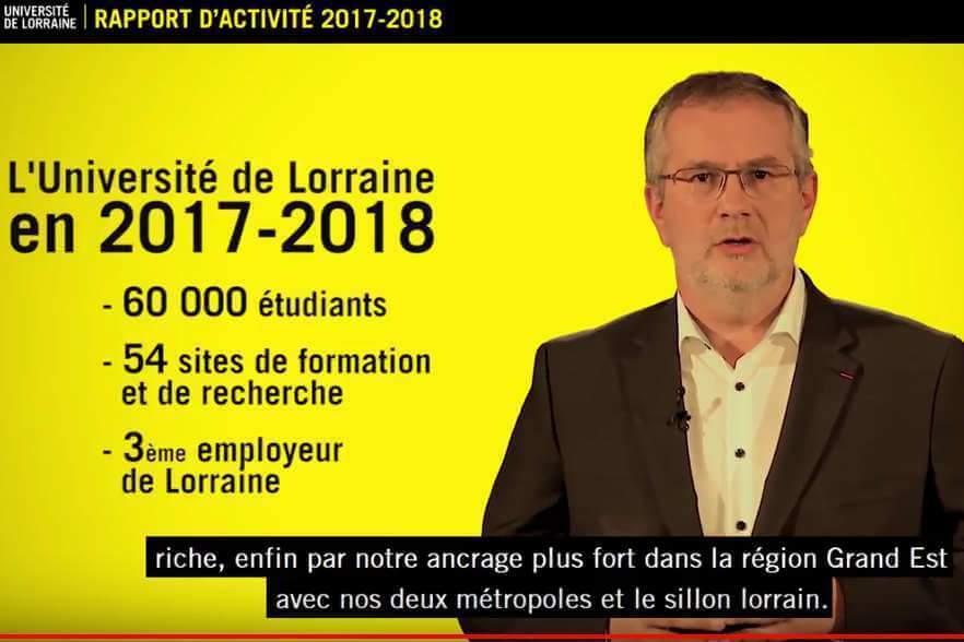 2017-2018 : l'Université de Lorraine en mouvement