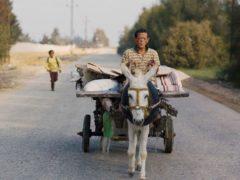 Avec son âne et sa carriole, Beshay quitte la léproserie pour aller retrouver les siens.