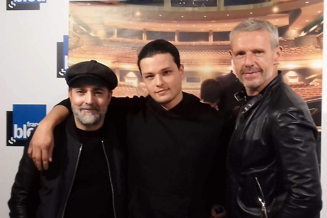 Le réalisateur Ludovic Bernard avec Jules Benchetrit et Lambert Wilson, lors de l'avant-première du film à Nancy.
