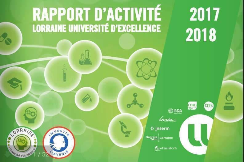 Rapport de Lorraine Université d'Excellence