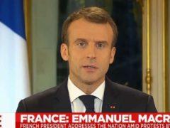 Discours d'Emmanuel Macron le 10 décembre 2018 (Capture euronews)