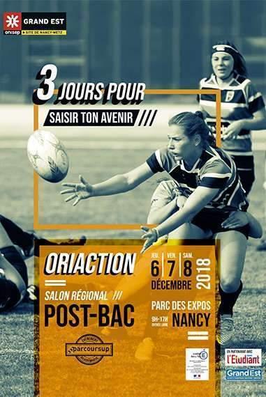Oriaction, un salon post-bac à Nancy (affiche)