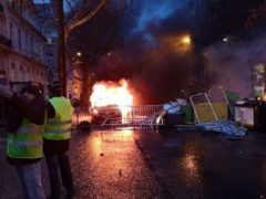 Situation insurrectionnelle à Paris, le 1er décembre 2018 (photo DR)
