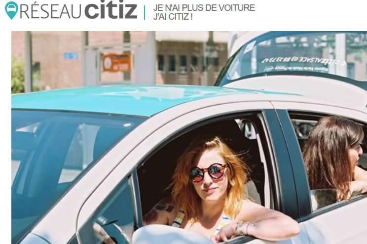 Autopartage à Metz (photo réseau citiz)