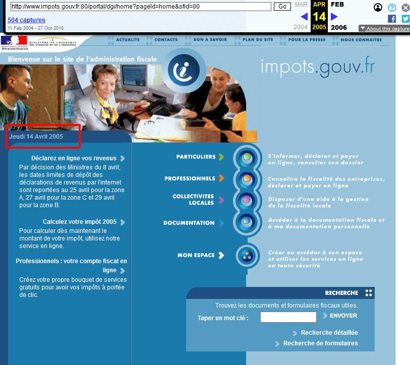 site-impot-2005