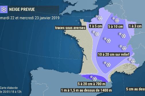 Épisode de neige en plaine mardi et mercredi