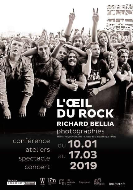 """Exposition """"L'Oeil du Rock"""" à la MJC Verlaine (affiche)"""