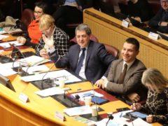 Séance plénière du Conseil régional Grand Est: le président Jean Rottner et les vice-présidents (photo Pascal Bodez RGE)