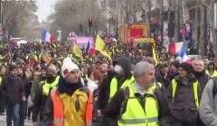 Acte X des Gilets jaunes ce 19 janvier 2019 (capture Euronews)