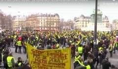 Gilets Jaunes, acte 9 (capture euronews)