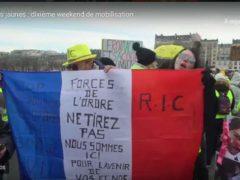 Gilets jaunes, acte X à Paris (capture euronews)