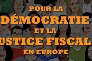 Pétition pour la justice fiscale en Europe (affiche)
