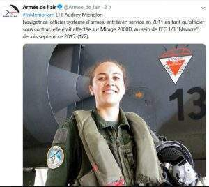 Le lieutenant Audrey Michelon a trouvé la mort aux commandes du Mirage 2000 de la BA 133 de Nancy-Ochey (Photo Armée de l'air)
