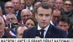 Le Président de la République lance le grand débat national (capture euronews)