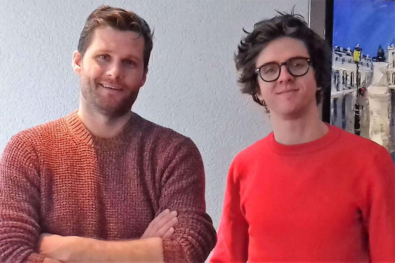 """Alexis Michalik et Thomas Solivérès, lors de la présentation de """"Edmond"""" en avant-première à l'UGC Nancy."""