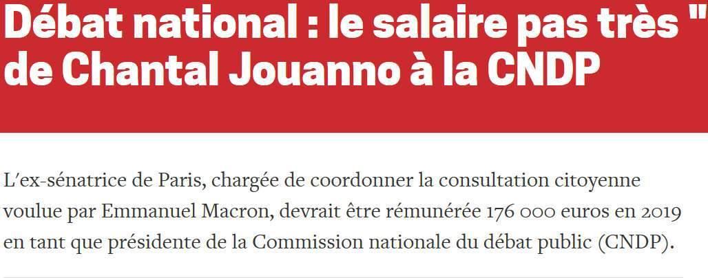 Polémique sur le salaire de Chantal Jouanno (La Lettre A)