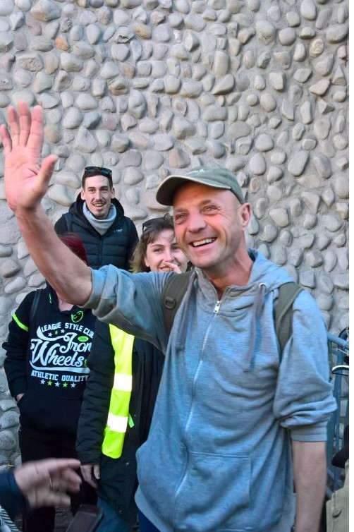 Fabrice Gillant à sa sortie de l'hôtel de police de Nancy (DR)