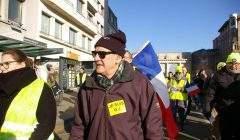 François Baudin défile avec les Gilets jaunes à Nancy (DR)
