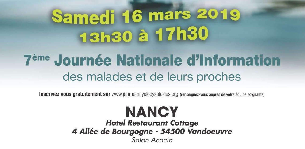 Information le 16 mars 2019 au restaurant Cottage à Vandoeuvre les Nancy