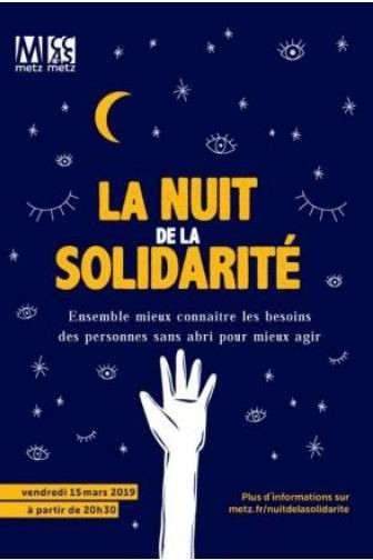 Nuit de la solidarité 2019 à Metz (affiche)