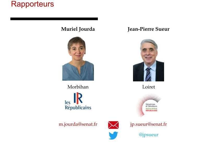 Deux rapporteurs de la Commission des Lois du Sénat