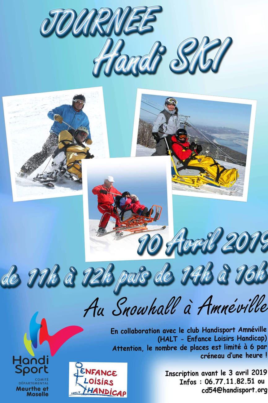 Journée Handi Ski à Amnéville le 10 avril 2019