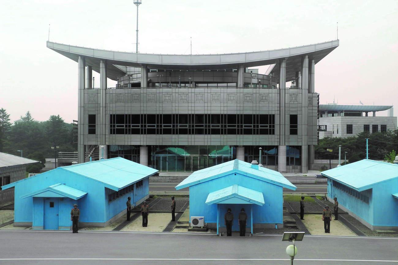 La DMZ ou Ligne démilitarisée séparant les deux Corée (photo C. Vautrin)