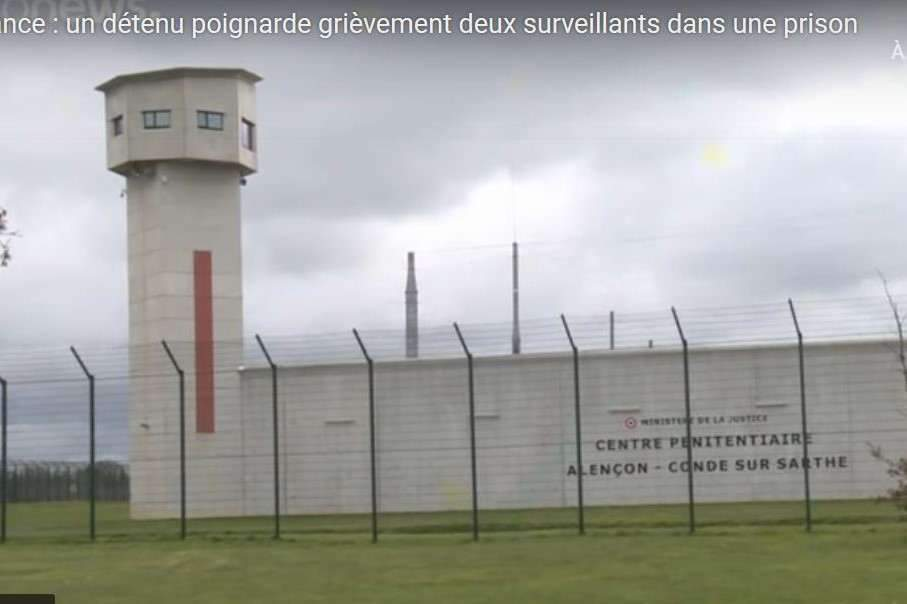 La maison d'arrêt de Condé-sur-Sarthe est considérée comme l'une des plus sûres de France (capture Euro News)