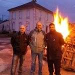 Franck Rassel (au centre) secrétaire régional FO-Pénitentiaire entouré de Cédric Naudin, secrétaire FO Toul et Mehmet Célik (secrétaire-adjoint à Toul) Photo DR)