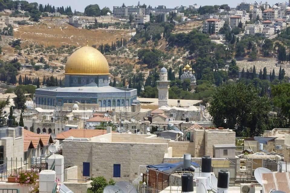 Le mont du temple à Jérusalem, carrefour des trois religions monothéistes (Pixabay)