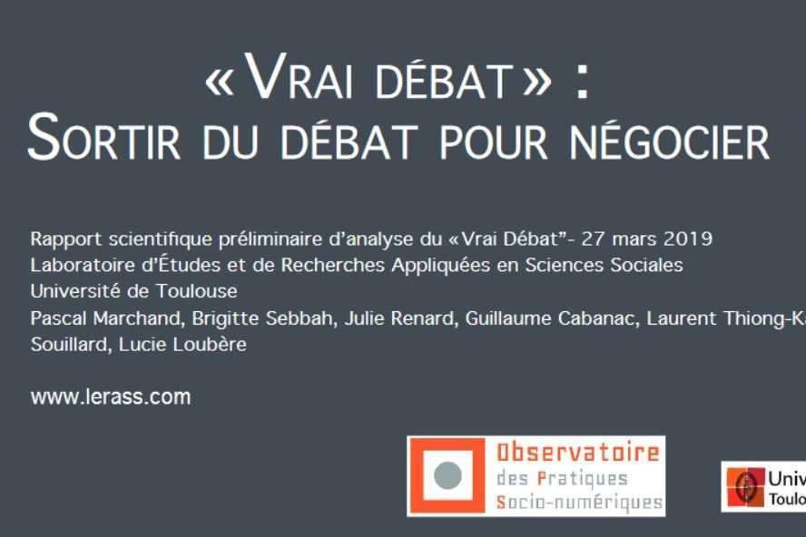 Synthèse par le LERASS (laboratoire de Toulouse)