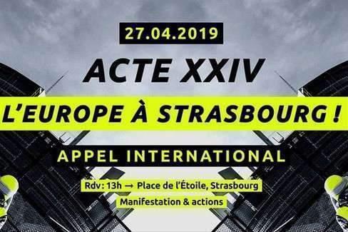 Les GJ à Strasbourg le 27 avril (capture Facebook)