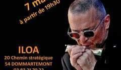 Alain Delhotal à l'harmonica (affiche)