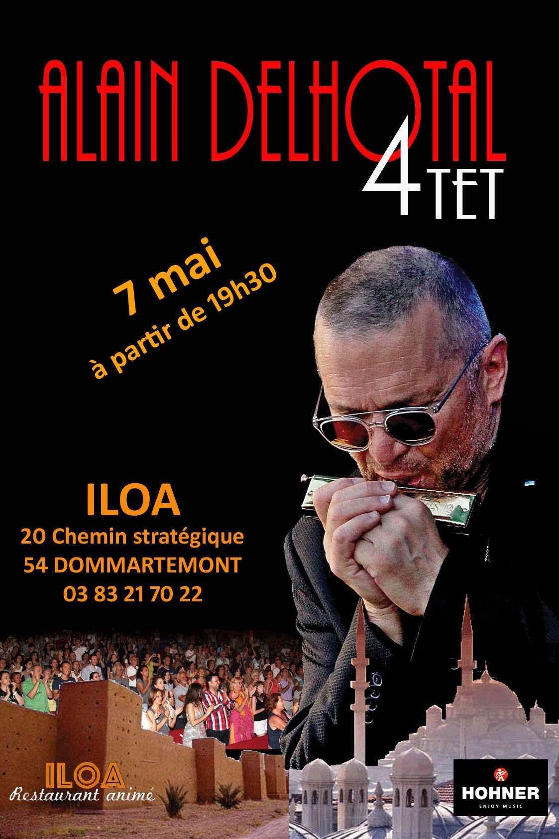 Alain Delhotal se produira à Dommartemont le 7 mai (affiche)