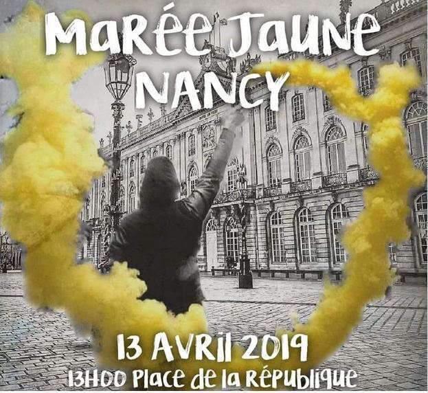 Lorraine seront à Nancy le 13 avril 2019 (Facebook)