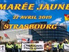Manif des Gilets jaunes, le 27 avril 2019, à Strasbourg (affiche)
