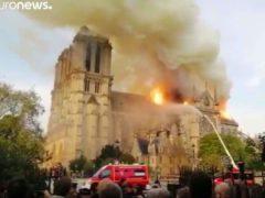 Terrible incendie de Notre-Dame de Paris (capture euronews)