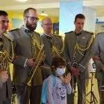 Le sextuor de cuivres de l'armée sextuor de cuivres de la musique de l'Arme Blindée Cavalerie (photo Armée)