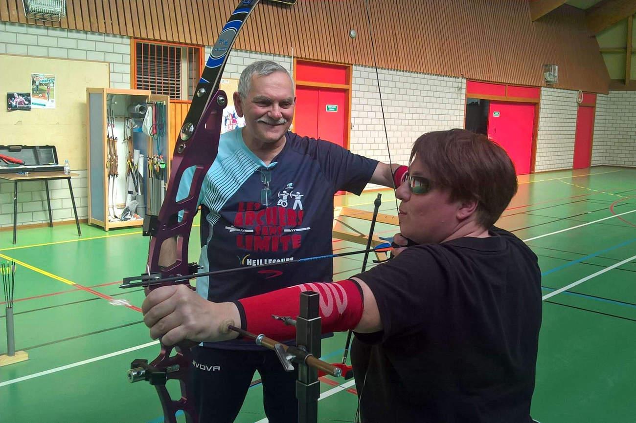 A l'entraînement avec Pierre Tankosic (DR)