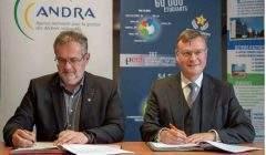 Pierre Mutzenhardt, président de l'UL et Pierre-Marie Abadie, directeur général de l'Andra (Photo Université de Lorraine)