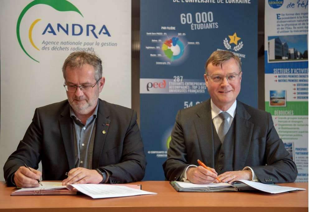 Retour sur le partenariat renouvelé entre l'Université de Lorraine et l'Andra