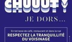 Campagne de communication contre les nuisances sonores à Metz (affiche)