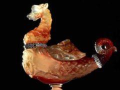 ÉMILE Gallé: Dragon héraldique, 1894, verre soufflé adjugé 244 600 €. Acquisition du musée d'Orsay (catalogue de la vente)