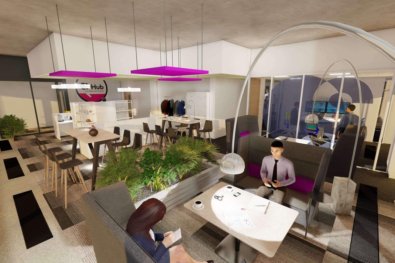 Espace lounge dy S-Hub (photo d'illustration S-Hub par Sodevam)