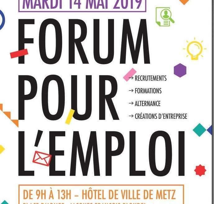 Forum pour l'emploi, mardi à Metz