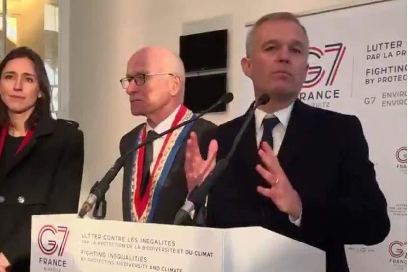G7 : François de Rugy accueilli à la mairie de Metz par le maire Dominique Gros (capture twitter)