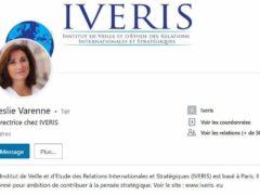 L'institut de veille et d'étude des relations internationales coorganise ce colloque (capture linkedIn)