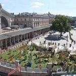 Les jardins éphémères devant la gare de l'Est à Paris (photo Ville de Metz)